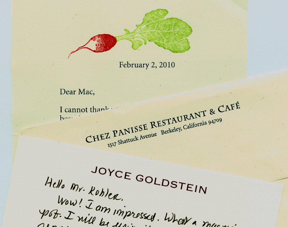 Notes from Chefs